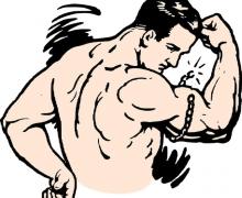 Scott-padon edzett bicepsz