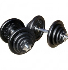 Deka Barbell DB2012 gumi egykezes súlyzó szett 40 kg